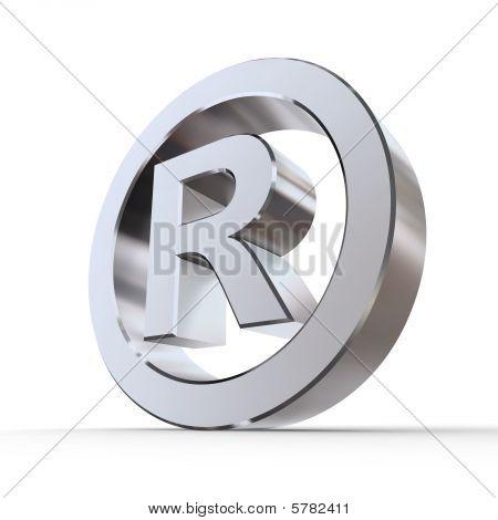 Shiny Registered Trademark Symbol