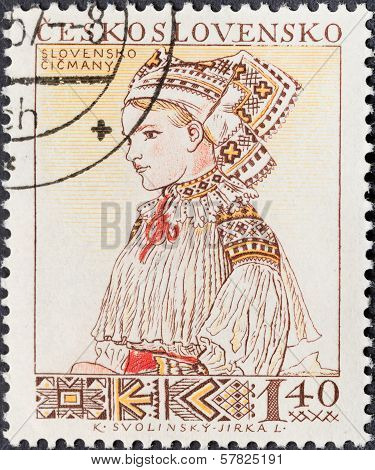 Portrait Of Woman In Slovenian National Costume