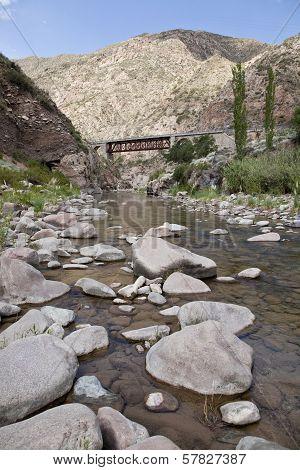 Rocks In A River Near Potrerillos.
