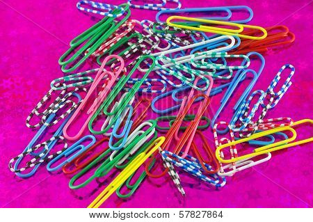 Color Clips On Abstract Background