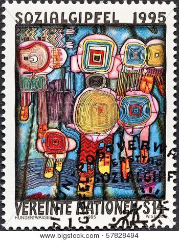 Hundertwasser Painting Human Rights