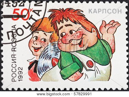 Kid And Karlsson Characters Of Cartoons In Ussr