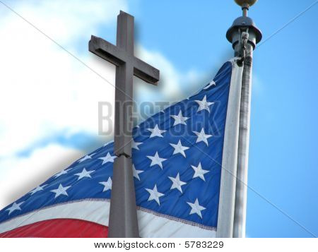 American Flag Christian Cross