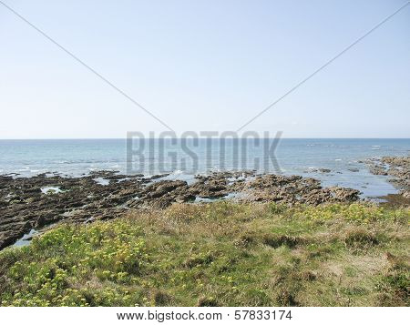 Sea Coast In Brittany