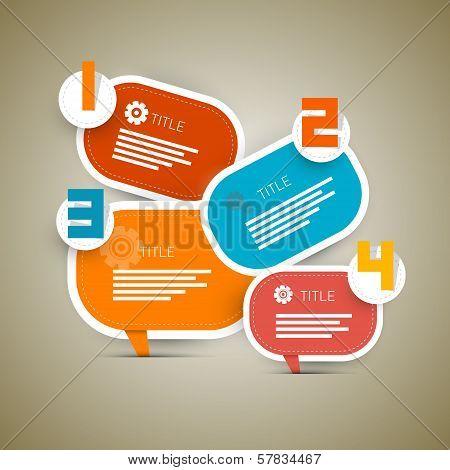 Vector Retro Paper Progress Steps For Tutorial, Infographics