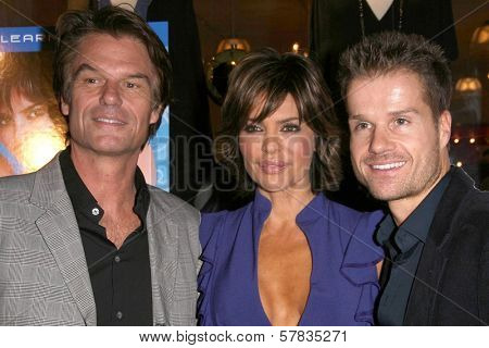 Harry Hamlin with Lisa Rinna and Louis van Amstel   at the launch party for 'Dance Body Beautiful' series of DVDs by Lisa Rinna. Belle Gray, Sherman Oaks, CA. 12-09-08