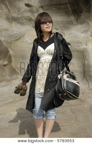 Fashion Shot On The Beach