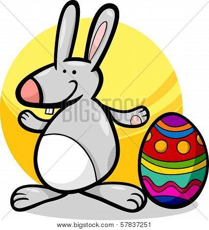 Funny Easter Bunny Cartoon Illustration