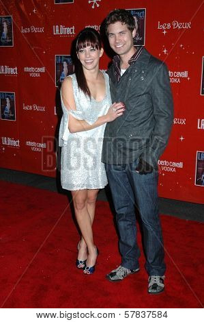 Amy Paffrath and Andrew Seeley   at LA Direct's 2nd Annual 'Remember to Give' Toy Drive. Les Deux, Hollywood, CA. 12-11-08
