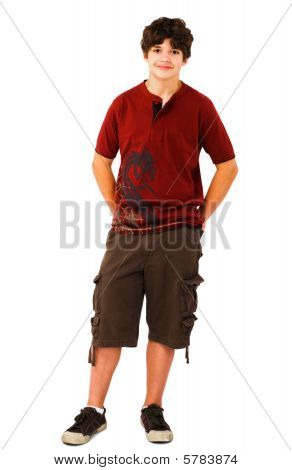 Caucasian Boy Posing