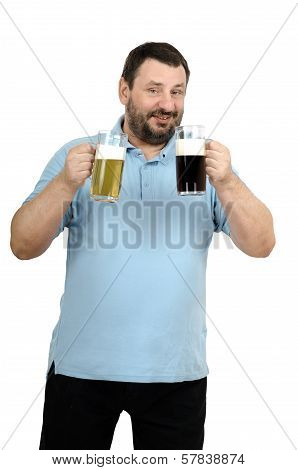 Man Intends To Drink Stout Then Lager Beer