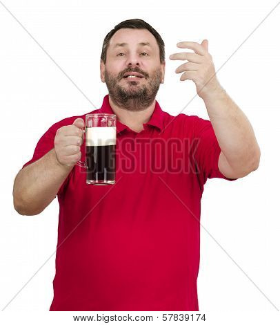 Smiling Bearded Man Inviting To Pub