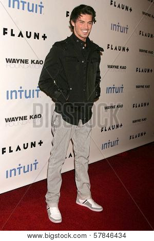 Adam Gregory   at Flaunt Magazine's 10th Anniversary Party And Holiday Toy Drive. Wayne Kao Mansion, Homby Hills, CA. 12-18-08