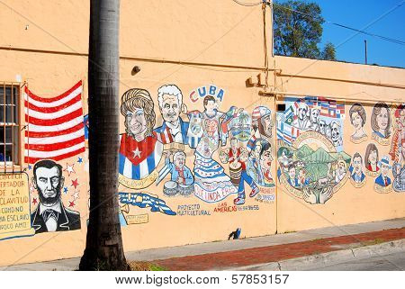 Graffiti on wall of little Havana