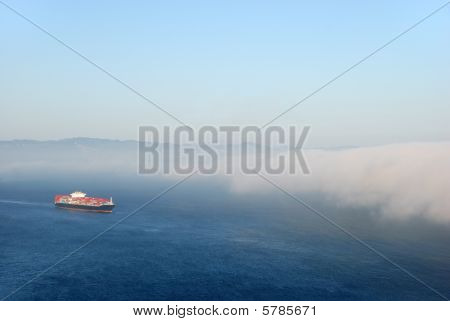 Tanker Entering Fog