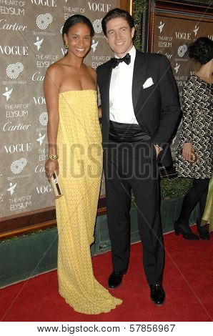 Joy Bryant and Dave Pope  at the 2nd Annual Art of Elysium Black Tie Charity Gala 'Heaven'. The Vibiana, Los Angeles, CA. 01-10-09