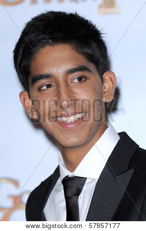 Dev Patel in the press room at the 66th Annual Golden Globe Awards. Beverly Hilton Hotel, Beverly Hills, CA. 01-11-09