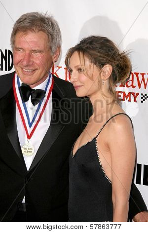 Harrison Ford and Calista Flockhart at the 6th Annual 'Living Legends of Aviation' Awards Ceremony. The Beverly Hilton Hotel, Beverly Hills, CA. 01-22-09