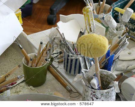 A Potter's Studio And Tools 3