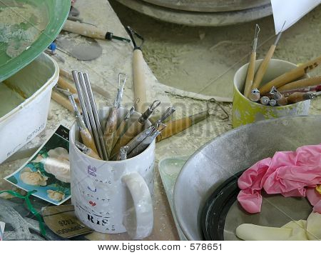 A Potter's Studio And Tools 4