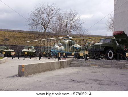 Antiaircraft Rockets And Helicopter