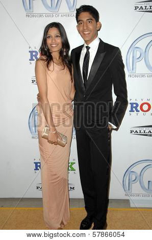 Freida Pinto and Dev Patel at the 20th Annual Producers Guild Awards. Hollywood Palladium, Hollywood, CA. 01-24-09