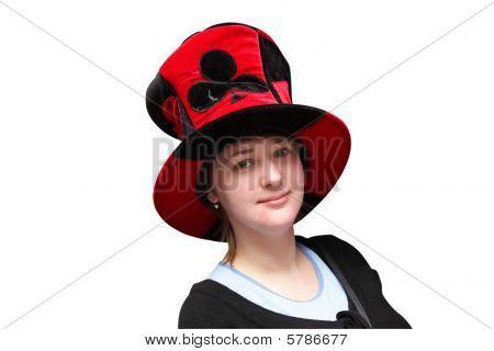 Mujer en tonto de Cap