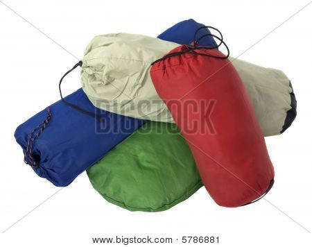 Colorful Bags With Camping Equipment