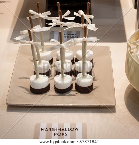 Marshmallow Pops On Displat At Homi, Home International Show In Milan, Italy