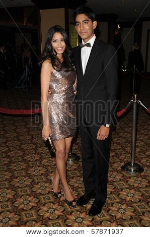 Freida Pinto and Dev Patel at the 61st Annual DGA Awards. Hyatt Regency Century Plaza, Los Angeles, CA. 01-31-09