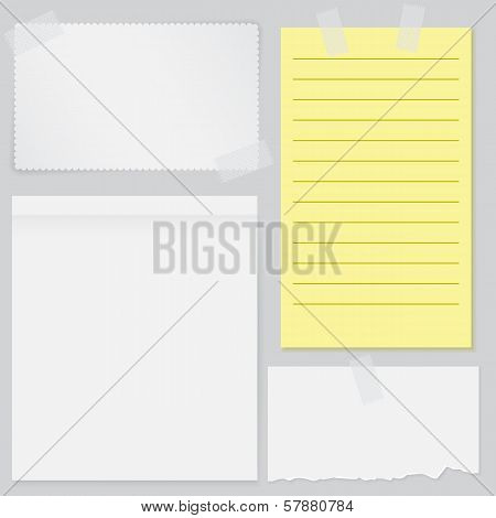 Set Of Four Notes Papers