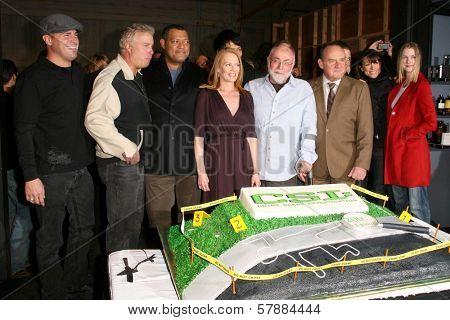 Cast of 'CSI Crime Scene Investigation' at the CSI Crime Scene Investigation 200th Episode Celebration. Universal Studios, Universal City, CA. 02-10-09