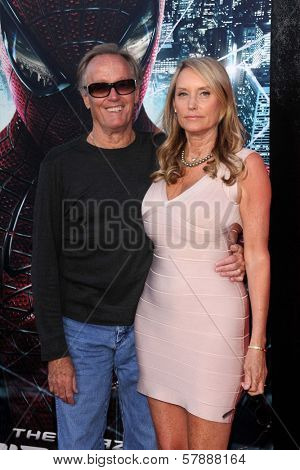 Peter Fonda and wife at