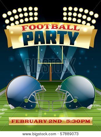 American Football Party Flyer
