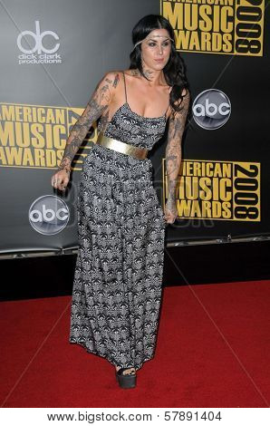 Kat Von D  at the 2008 American Musica Awards. Nokia Theatre, Los Angeles, CA. 11-23-08