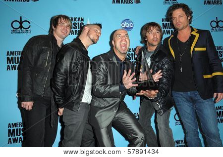 Daughtry  in the press room at the 2008 American Musica Awards. Nokia Theatre, Los Angeles, CA. 11-23-08