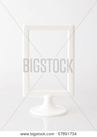 White vertical picture frame