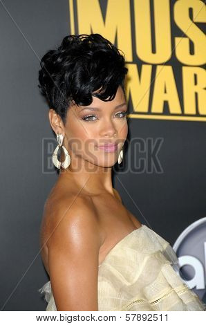 Rihanna  at the 2008 American Musica Awards. Nokia Theatre, Los Angeles, CA. 11-23-08