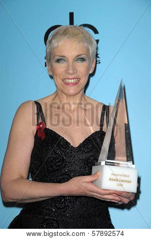 Annie Lennox   in the press room at the 2008 American Musica Awards. Nokia Theatre, Los Angeles, CA. 11-23-08
