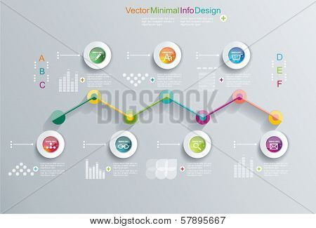 Time Design Template With Diagram Set.