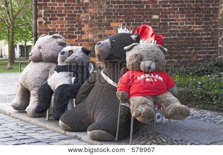 Teddy Bears On Berlin Street