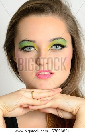 Pretty Girl With Makeup