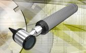 pic of otoscope  - Digital illustration of otoscope in white background - JPG