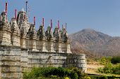 pic of jain  - View on the Jain Temple in Ranagpur Rajasthan India - JPG