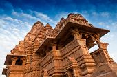 foto of kandariya mahadeva temple  - Kandariya Mahadeva Temple dedicated to Lord Shiva Western Temples of Khajuraho Madhya Pradesh India - JPG