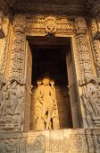 image of krishna  - Sculptures of Lord Krishna Chaturbhuj Temple dedicated to Lord Shiva Western Temples of Khajuraho India - JPG