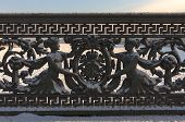 pic of sankt-peterburg  - Decorative fence of the bridge in Sankt - JPG