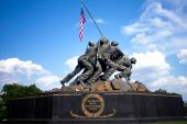 foto of iwo  - US Marine Corps Iwo Jima memorial in Arlington National cemetery Washington DC - JPG