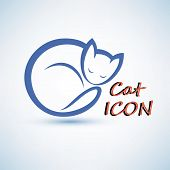 foto of cat-tail  - cat icon - JPG