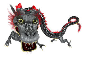 image of hangul  - Chinese Dragon Illustration on clean white background - JPG
